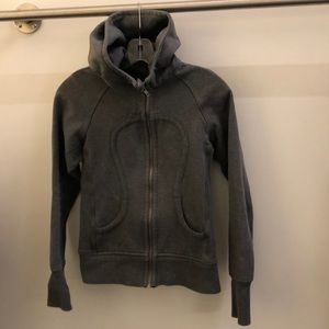 lululemon athletica Jackets & Coats - Lululemon gray with silver scuba hoodie,sz4, 70663